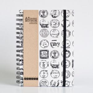 A5 Post Stamp Fabric Wrapped Notebo..