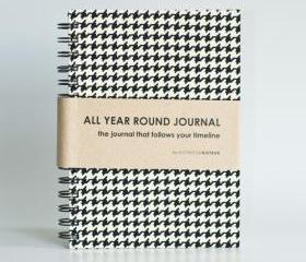 All Year Round Journal (unfilled dates / months / years) - Houndstooth