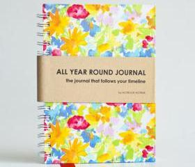 All Year Round Journal (unfilled dates / months / years) - Summer Sunshine