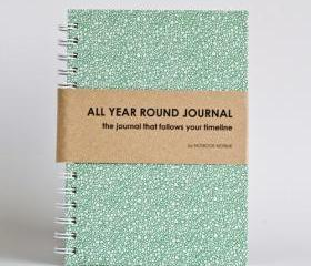 All Year Round Journal (unfilled dates / months / years) - Green Bubbles